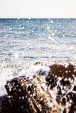 Wellen in den Felsen lizenzfreie stockbilder