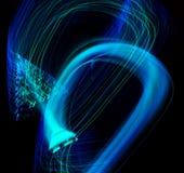Wellen der blauen Flamme Lizenzfreies Stockbild