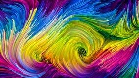 Wellen der bunten Farbe stock abbildung