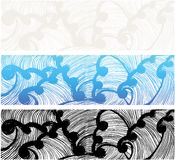 Wellen der japanischen Art Lizenzfreie Stockfotos