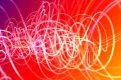 Wellen der Leuchte über buntem Hintergrund Lizenzfreie Stockbilder