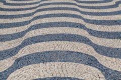 Wellen des Fliesenbodens Stockfoto