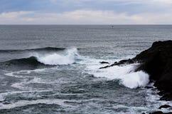 Wellen, die Lava Headlands Depoe Bay Oregon schlagen Lizenzfreie Stockfotografie