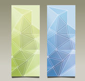 Wellen-Dreieckhintergrund der Zusammenfassung gesetzter Lizenzfreie Stockbilder