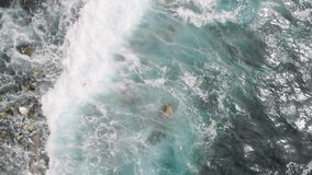 Wellen im Atlantik in EL Pris, Teneriffa-Insel, Kanarische Inseln, Spanien, Europa stock video footage