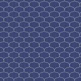 Wellen Japanisches sashiko Motiv Nahtloses Muster Lizenzfreies Stockfoto
