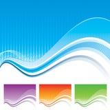 Wellen-Schablone stock abbildung
