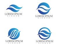 Wellen setzen Logo- und Symbolschablonenikonen-APP auf den Strand Lizenzfreies Stockfoto