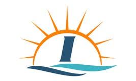 Wellen-Sonnenuntergang-Initiale I Stockfotografie