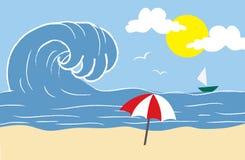 Wellen am Strand lizenzfreie abbildung