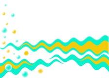 Wellen und Luftblasen lizenzfreie abbildung