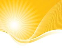 Wellen und Solarlichtstrahlen Lizenzfreies Stockbild