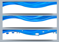 Wellen und Zeilen Hintergrund Lizenzfreies Stockfoto