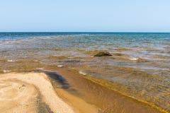 Wellen vom Baikalsee Lizenzfreies Stockfoto