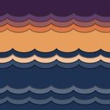 Wellen vom Papier lizenzfreie abbildung