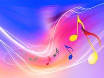Wellen von Musik Stockbild