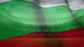 Wellenartig bewegen bulgarisch im Fußballstadion lizenzfreie abbildung