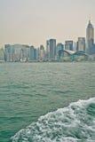 Wellenartig bewegen und der Hong Kong Island-Platz Lizenzfreies Stockbild