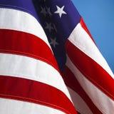 Wellenartig bewegende amerikanische Flagge Stockfoto