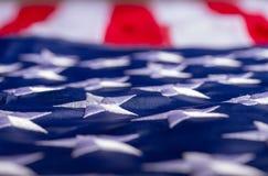 Wellenartig bewegende amerikanische Flagge lizenzfreie stockfotografie