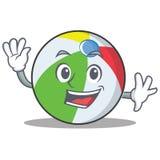 Wellenartig bewegende Ballcharakter-Karikaturart Lizenzfreies Stockbild