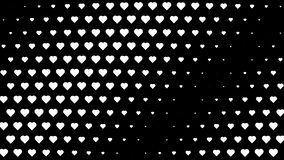 Wellenartig bewegende Bewegung der weißen Polkaherzen lizenzfreie abbildung
