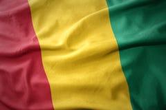 Wellenartig bewegende bunte Flagge der Guine lizenzfreies stockfoto
