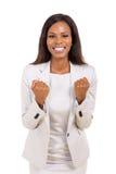 Wellenartig bewegende Fäuste der Geschäftsfrau Lizenzfreies Stockbild