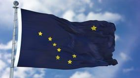Wellenartig bewegende Flagge Alaskas lizenzfreie abbildung
