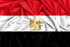 wellenartig bewegende Flagge 3d von Ägypten lizenzfreie abbildung