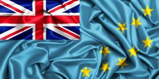 wellenartig bewegende Flagge 3d von Tuvalu im Wind, lizenzfreie stockfotografie