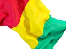 Wellenartig bewegende Flagge der Guine vektor abbildung