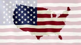 Wellenartig bewegende Flagge der Vereinigten Staaten von Amerika