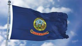 Wellenartig bewegende Flagge Idahos lizenzfreies stockfoto