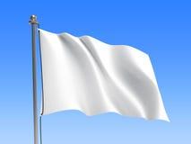 Wellenartig bewegende Flagge/löschen Flagge - Himmelhintergrund Stockfoto