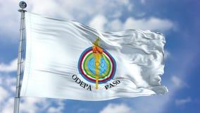 Wellenartig bewegende Flagge Pan American Sports Organizations PASO Lizenzfreies Stockfoto