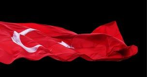 Wellenartig bewegende Flagge von der Türkei Stockbilder