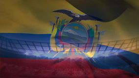 Wellenartig bewegende Flagge von Ecuador stock abbildung