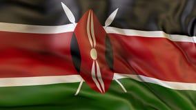 Wellenartig bewegende Flagge von Kenia, Patriot, Illustration Lizenzfreie Stockfotos