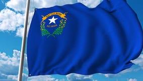 Wellenartig bewegende Flagge von Nevada vektor abbildung