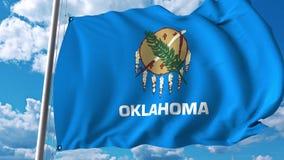 Wellenartig bewegende Flagge von Oklahoma vektor abbildung
