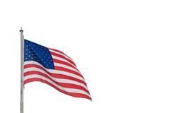 Wellenartig bewegende Flagge von USA Stockfotos