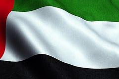 Wellenartig bewegende Gewebebeschaffenheit der Flagge mit Farbe von Vereinigten Arabischen Emiraten Lizenzfreie Stockbilder