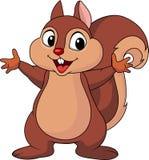 Wellenartig bewegende Hand der Eichhörnchenkarikatur Stockfoto