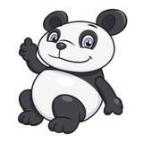 Wellenartig bewegende Hand des Pandas Lizenzfreies Stockbild