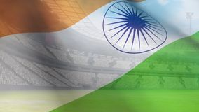 Wellenartig bewegende indische Flagge vektor abbildung