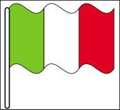 Wellenartig bewegende Italien-Markierungsfahne Stockfotos