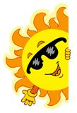 Wellenartig bewegende Karikatur Sun Stockfoto