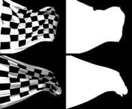 Wellenartig bewegende Kontrolleur-Flaggen Lizenzfreies Stockbild