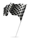 Wellenartig bewegende Markierungsfahne checkered Stockbild